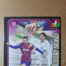 Cromos de Fútbol: EDICION LIMITADA CARD HÉROES 2020 MESSI Y RAMOS ADRENALYN 19-20. Lote 244025145