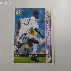 Cromos de Fútbol: CROMO TARJETA ETOO ETO´O REAL MADRID ROOKIE CARD 1998 1999 98 99 MUNDICROMO NUEVO. Lote 244190290