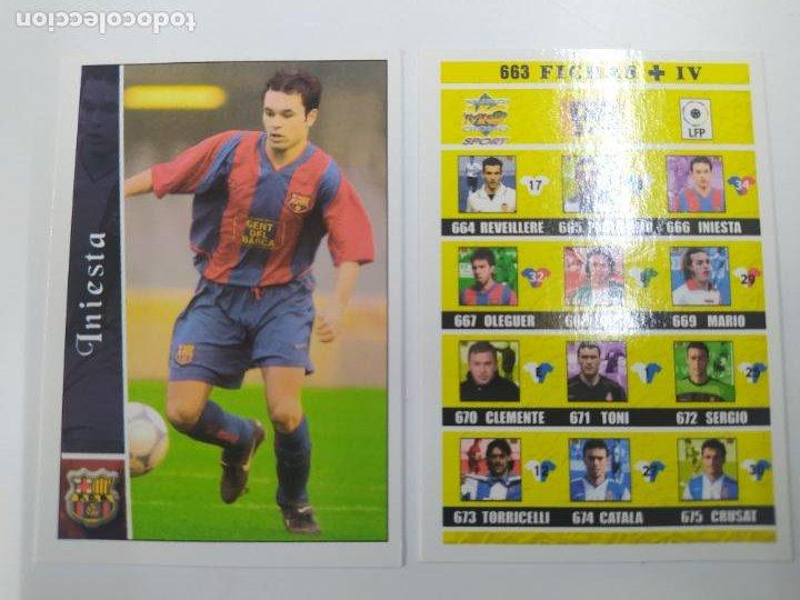 CROMO TARJETA INIESTA FC BARCELONA ROOKIE CARD 2002 2003 02 03 MUNDICROMO + INDICE EXCELENTE ESTADO (Coleccionismo Deportivo - Álbumes y Cromos de Deportes - Cromos de Fútbol)