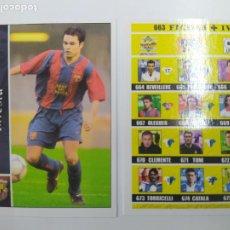 Cromos de Fútbol: CROMO TARJETA INIESTA FC BARCELONA ROOKIE CARD 2002 2003 02 03 MUNDICROMO + INDICE EXCELENTE ESTADO. Lote 244191330