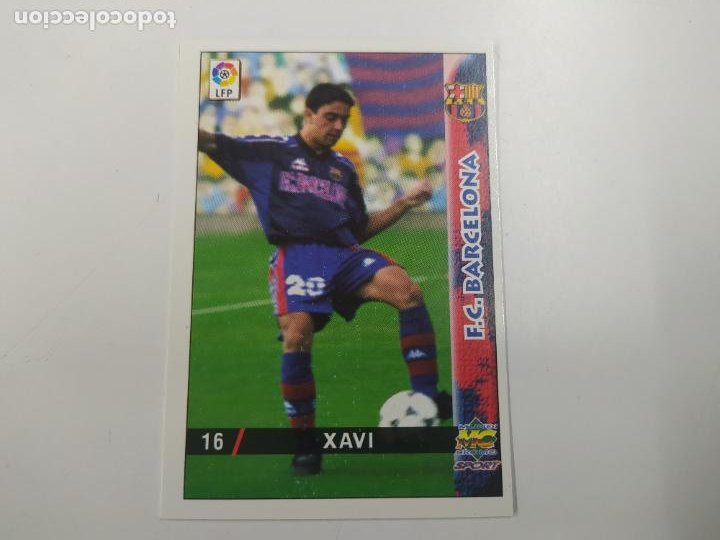 CROMO TARJETA XAVI FC BARCELONA ROOKIE CARD 1998 1999 98 99 MUNDICROMO EXCELENTE ESTADO (Coleccionismo Deportivo - Álbumes y Cromos de Deportes - Cromos de Fútbol)