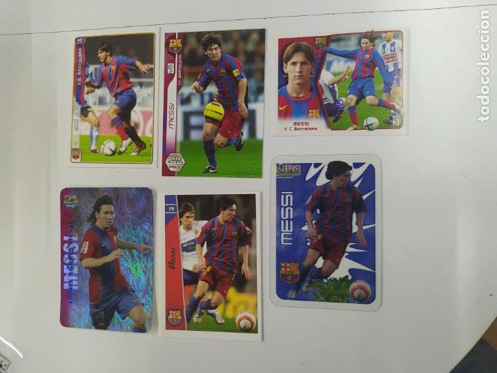 LOTE 6 CROMOS TARJETAS DIFERENTES MESSI FC BARCELONA ROOKIE CARD 2004 2005 2006 MUNDICROMO ESTE NUEV (Coleccionismo Deportivo - Álbumes y Cromos de Deportes - Cromos de Fútbol)