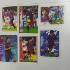 Cromos de Fútbol: LOTE 6 CROMOS TARJETAS DIFERENTES MESSI FC BARCELONA ROOKIE CARD 2004 2005 2006 MUNDICROMO ESTE NUEV. Lote 244192290
