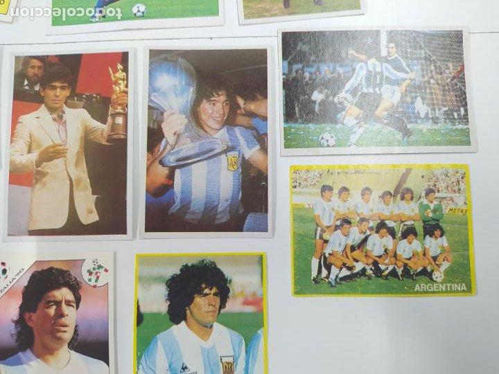 Cromos de Fútbol: LOTE 11 CROMOS DIFERENTES MARADONA 1982 1984 ESTE PANINI MUNDIAL FUTBOL CASI TODOS NUEVOS - Foto 3 - 244193310