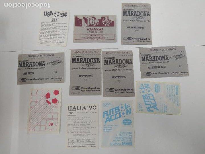 Cromos de Fútbol: LOTE 11 CROMOS DIFERENTES MARADONA 1982 1984 ESTE PANINI MUNDIAL FUTBOL CASI TODOS NUEVOS - Foto 6 - 244193310