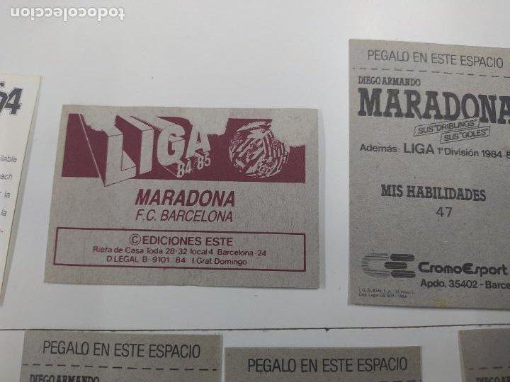 Cromos de Fútbol: LOTE 11 CROMOS DIFERENTES MARADONA 1982 1984 ESTE PANINI MUNDIAL FUTBOL CASI TODOS NUEVOS - Foto 8 - 244193310