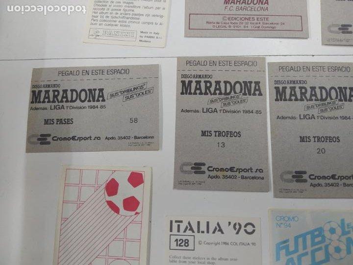 Cromos de Fútbol: LOTE 11 CROMOS DIFERENTES MARADONA 1982 1984 ESTE PANINI MUNDIAL FUTBOL CASI TODOS NUEVOS - Foto 9 - 244193310