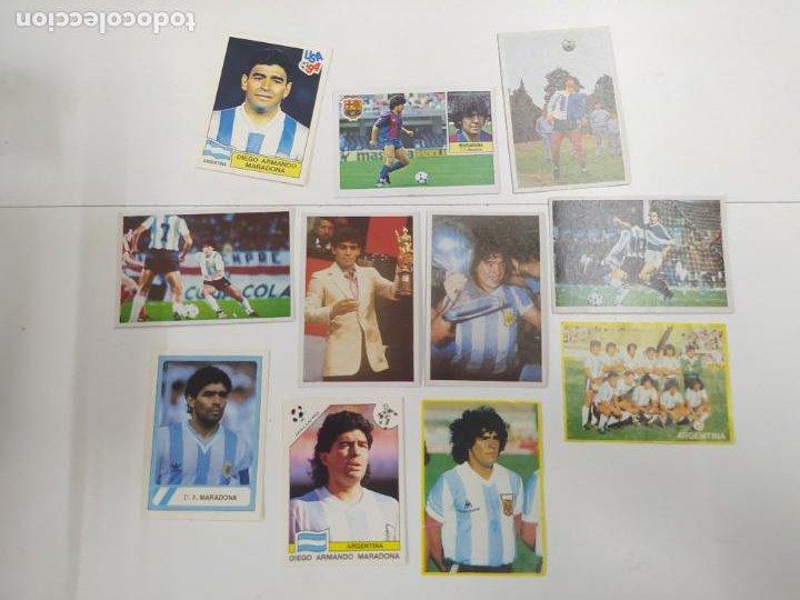 LOTE 11 CROMOS DIFERENTES MARADONA 1982 1984 ESTE PANINI MUNDIAL FUTBOL CASI TODOS NUEVOS (Coleccionismo Deportivo - Álbumes y Cromos de Deportes - Cromos de Fútbol)