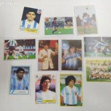 Cromos de Fútbol: LOTE 11 CROMOS DIFERENTES MARADONA 1982 1984 ESTE PANINI MUNDIAL FUTBOL CASI TODOS NUEVOS. Lote 244193310