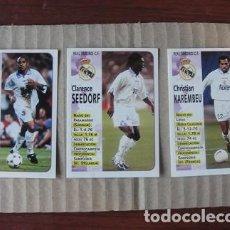 Cromos de Fútbol: LOTE 3 CROMOS NUEVOS REAL MADRID 98 99 LIGA PANINI - ROBERTO CARLOS SEEDORF KAREMBEU - 72 75 77. Lote 244950275
