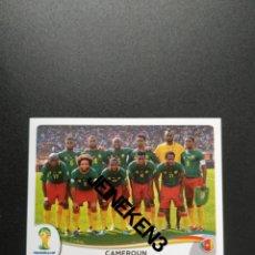 Cromos de Fútbol: FIFA WORLD CUP BRASIL 2014 90 EQUIPO CAMERÚN. Lote 244950440
