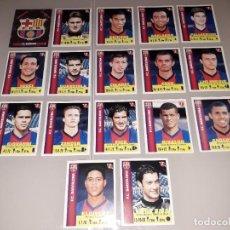 Cromos de Fútbol: LOTE COMPLETO FC BARCELONA 1999 EQUIPOS DE EUROPA CHAMPIONS PANINI. Lote 244953145