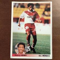 Cromos de Fútbol: LOS MEJORES EQUIPOS DE EUROPA 96/97 THIERRY HENRY ROOKIE DEL MONACO. Lote 245109345