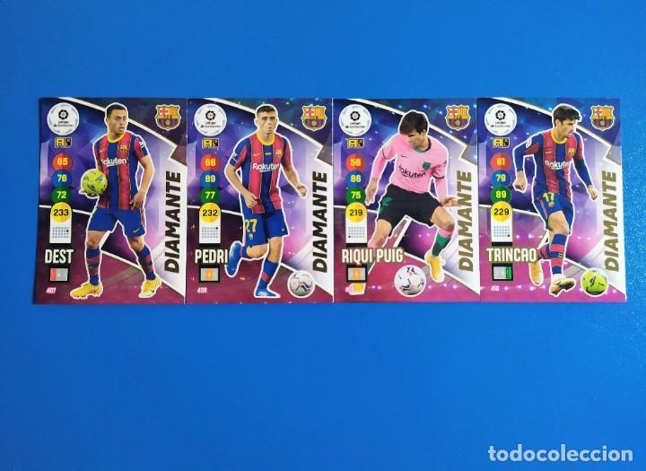 ADRENALYN XL 2020 2021 / 20 21 DEST - PEDRI - RIQUI PUIG - TRINCAO (BARCELONA) DIAMANTE (Coleccionismo Deportivo - Álbumes y Cromos de Deportes - Cromos de Fútbol)