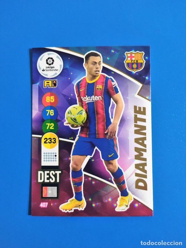 Cromos de Fútbol: Adrenalyn XL 2020 2021 / 20 21 Dest - Pedri - Riqui Puig - Trincao (Barcelona) Diamante - Foto 2 - 245464040