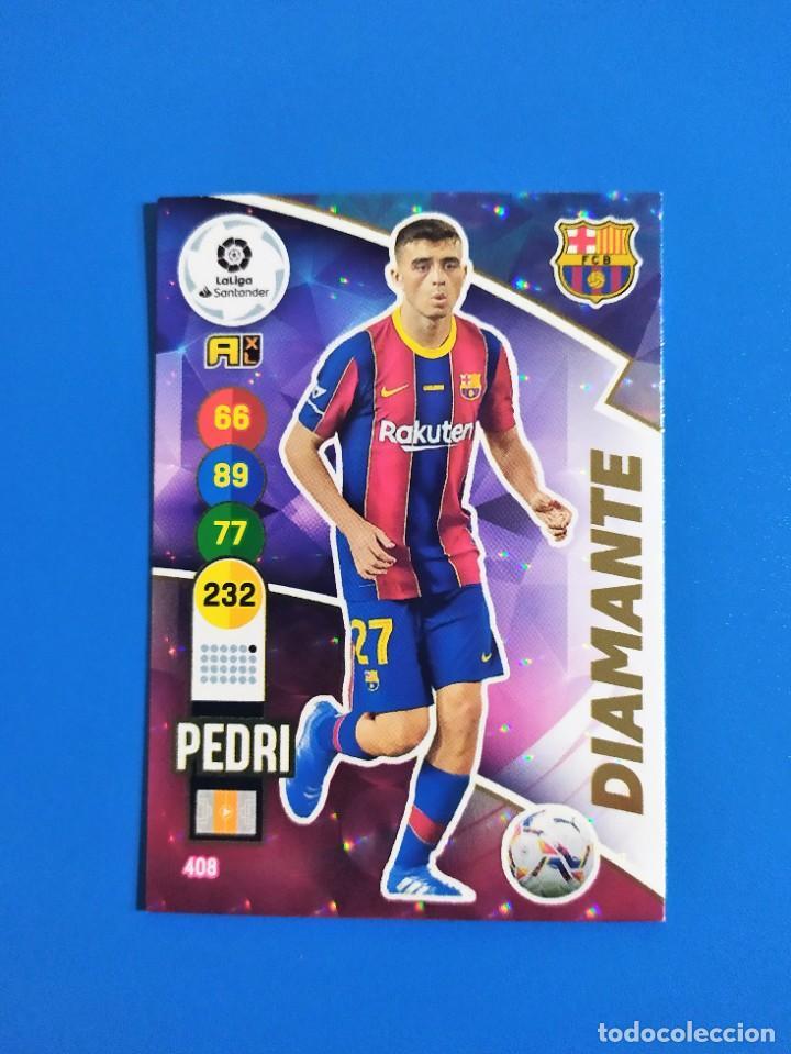 Cromos de Fútbol: Adrenalyn XL 2020 2021 / 20 21 Dest - Pedri - Riqui Puig - Trincao (Barcelona) Diamante - Foto 3 - 245464040