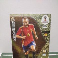 Cromos de Fútbol: ANDRÉS INIESTA Nº 442 ADRENALYN XL PANINI FIFA WORLD CUP 2018 RUSSIA-RUSIA (ESPAÑA) ICON-ICONS. Lote 245945000