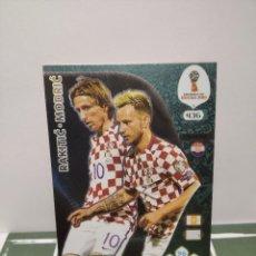 Cromos de Fútbol: RAKITIC Y MODRIC Nº 436 - CROACIA DOUBLE TROUBLE MUNDIAL RUSIA WORLD ADRENALYN 2018 18. Lote 245956775
