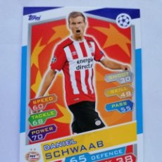 Cromos de Fútbol: 6 SCHWAAB (PSV EINDHOVEN) CHAMPIONS LEAGUE TOPPS MATCH ATTAX 2016 2017 16 17. Lote 246015980