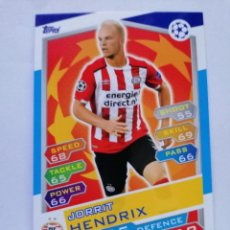 Cromos de Fútbol: 9 HENDRIX (PSV EINDHOVEN) CHAMPIONS LEAGUE TOPPS MATCH ATTAX 2016 2017 16 17. Lote 246016065