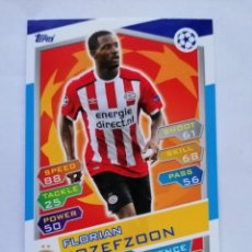 Cromos de Fútbol: 15 JOZEFZOON (PSV EINDHOVEN) CHAMPIONS LEAGUE TOPPS MATCH ATTAX 2016 2017 16 17. Lote 246016355