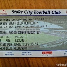 Cromos de Fútbol: TICKET - ENTRADA DE FUTBOL - STOKE CITY FOOTBALL CLUB. Lote 246053980