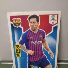 Cromos de Fútbol: MESSI Nº 63 BARCELONA - ADRENALYN 2018 2019 18 19 PANINI - CROMO LIGA ALBUM FÚTBOL. Lote 246172370