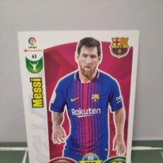 Cromos de Fútbol: MESSI Nº 63 FC BARCELONA - CROMO CARD DE FUTBOL ADRENALYN 2017-18 PANINI 2017 2018. Lote 246192165