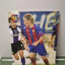 Cromos de Fútbol: CRISTIAN Nº 126 - MEGACRACKS BARÇA CAMPIÓ 2004 2005 PANINI - EN CATALÁN - BARCELONA 04 05. Lote 246195150
