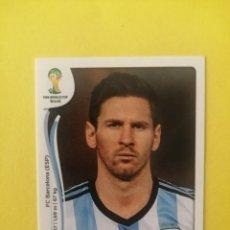 Cromos de Fútbol: MUNDIAL 2014 BRASIL PANINI N°430 LIONEL MESSI NUEVO SIN PEGAR. Lote 246196865
