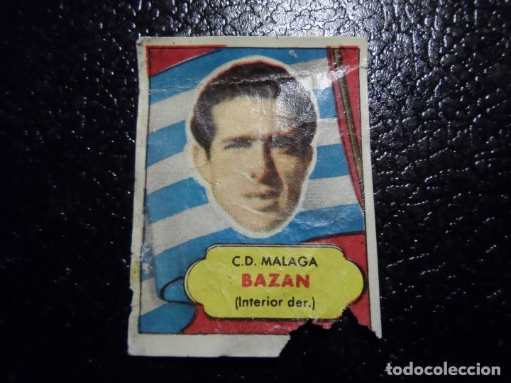 BAZAN DEL MALAGA BRUGUERA ASES DEL FUTBOL 1952 - 1953 ( 52 53 ) (Coleccionismo Deportivo - Álbumes y Cromos de Deportes - Cromos de Fútbol)