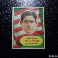 Cromos de Fútbol: MOLINUCO DEL SPORTING DE GIJON BRUGUERA ASES DEL FUTBOL 1952 - 1953 ( 52 53 ). Lote 246254140