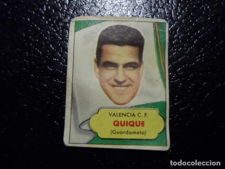 QUIQUE DEL VALENCIA BRUGUERA ASES DEL FUTBOL 1952 - 1953 ( 52 53 ) (Coleccionismo Deportivo - Álbumes y Cromos de Deportes - Cromos de Fútbol)