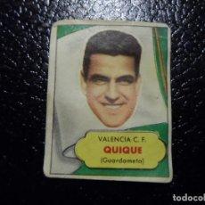 Cromos de Fútbol: QUIQUE DEL VALENCIA BRUGUERA ASES DEL FUTBOL 1952 - 1953 ( 52 53 ). Lote 246255045