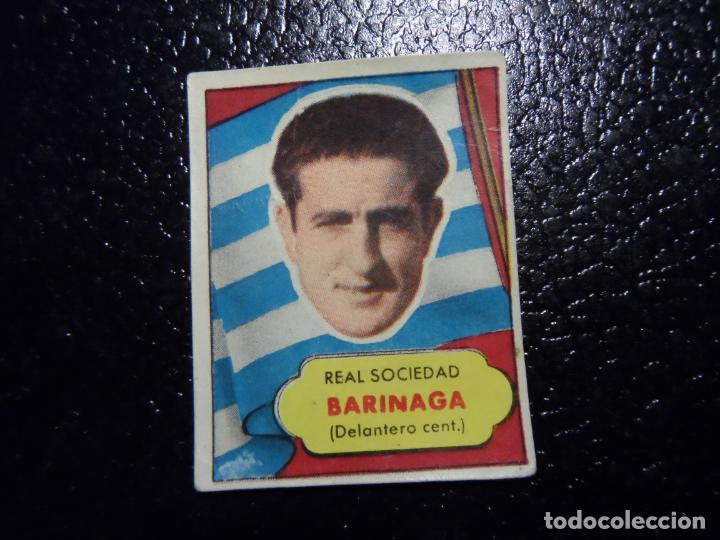 BARINAGA DE LA REAL SOCIEDAD BRUGUERA ASES DEL FUTBOL 1952 - 1953 ( 52 53 ) (Coleccionismo Deportivo - Álbumes y Cromos de Deportes - Cromos de Fútbol)