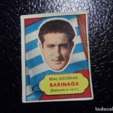 Cromos de Fútbol: BARINAGA DE LA REAL SOCIEDAD BRUGUERA ASES DEL FUTBOL 1952 - 1953 ( 52 53 ). Lote 246256355