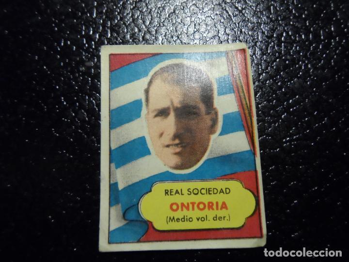 ONTORIA DE LA REAL SOCIEDAD BRUGUERA ASES DEL FUTBOL 1952 - 1953 ( 52 53 ) (Coleccionismo Deportivo - Álbumes y Cromos de Deportes - Cromos de Fútbol)