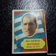 Cromos de Fútbol: ONTORIA DE LA REAL SOCIEDAD BRUGUERA ASES DEL FUTBOL 1952 - 1953 ( 52 53 ). Lote 246256805