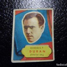 Cromos de Fútbol: DURAN DEL OVIEDO BRUGUERA ASES DEL FUTBOL 1952 - 1953 ( 52 53 ). Lote 246257140