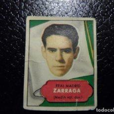 Cromos de Fútbol: ZARRAGA DEL REAL MADRID BRUGUERA ASES DEL FUTBOL 1952 - 1953 ( 52 53 ). Lote 246260420