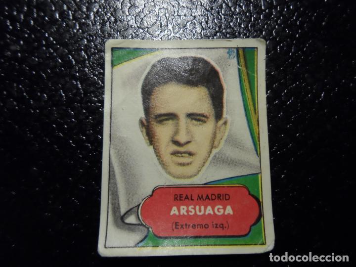 ARSUAGA DEL REAL MADRID BRUGUERA ASES DEL FUTBOL 1952 - 1953 ( 52 53 ) (Coleccionismo Deportivo - Álbumes y Cromos de Deportes - Cromos de Fútbol)