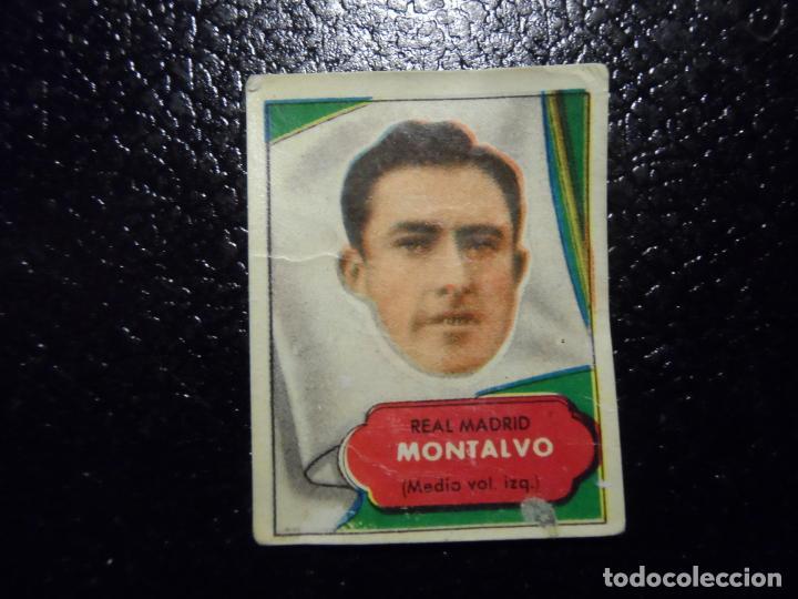MONTALVO DEL REAL MADRID BRUGUERA ASES DEL FUTBOL 1952 - 1953 ( 52 53 ) (Coleccionismo Deportivo - Álbumes y Cromos de Deportes - Cromos de Fútbol)
