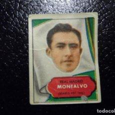 Cromos de Fútbol: MONTALVO DEL REAL MADRID BRUGUERA ASES DEL FUTBOL 1952 - 1953 ( 52 53 ). Lote 246260805
