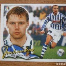 Cromos de Fútbol: CROMO LIGA ESTE 00 01 JANKAUSKAS (REAL SOCIEDAD) - NUNCA PEGADO - 2000 2001. Lote 246286390