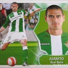 Cromos de Fútbol: BAJA JUANITO BETIS LIGA 08 09 EDICIONES ESTE 2008 2009 NUEVO SIN PEGAR. Lote 246286520
