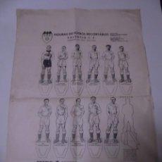 Cromos de Fútbol: MAGNIFICA HOJA CON FIGURAS DE FUTBOL RECORTABLES VALENCIA CAMPEON DE LIGA 1941-1942. Lote 246336680