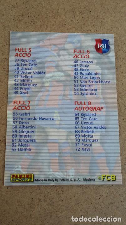Cromos de Fútbol: MEGACRACKS BARÇA CAMPIÓ 2004 2005 04 05 - CHECKLIST /1 - 460 - Foto 2 - 247220450