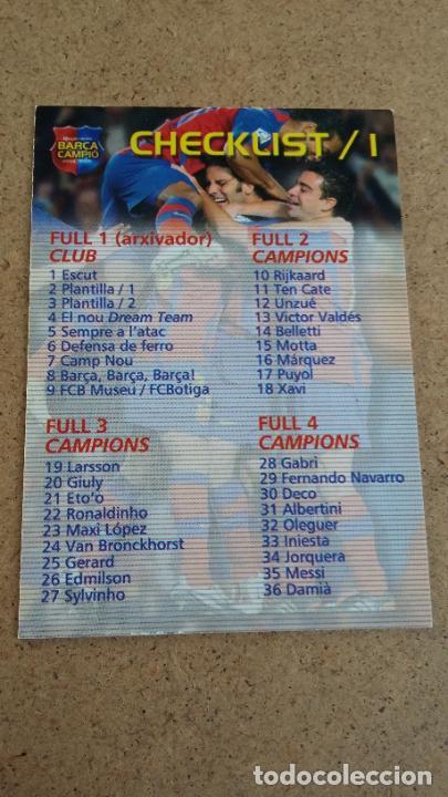 MEGACRACKS BARÇA CAMPIÓ 2004 2005 04 05 - CHECKLIST /1 - 460 (Coleccionismo Deportivo - Álbumes y Cromos de Deportes - Cromos de Fútbol)
