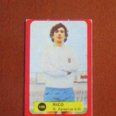 Cromos de Fútbol: LIGA FUTBOL 75 - 76 CROMO 100 RICO ZARAGOZA CROMOS 1975 - 1976 GRAFIMUR SOLANO JIMENEZ GODOY. Lote 248130720