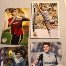 Cromos de Fútbol: 4 CROMOS FICHAS JUGADOR REAL MADRID IKER CASILLAS. Lote 248139195